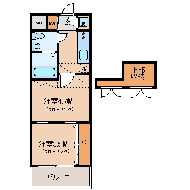 No.54 Wes-PROJECT54博多南203号室-間取り