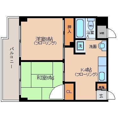 ヴィラ曽根崎III302号室-間取り
