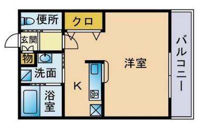 リバル吉塚II202号室-間取り