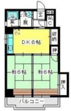 駅東レジデンス - 所在階 の間取り図