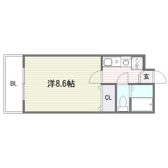 メモリアル博多405号室-間取り