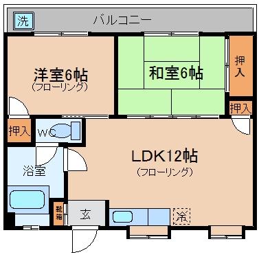 駅南第2ケイコービル504号室-間取り
