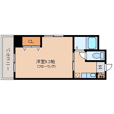リブジョイ美野島401号室-間取り