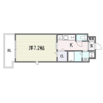 グランフォーレ桜坂ステーションプラザ203号室-間取り