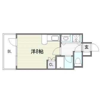 グリフィン福岡602号室-間取り