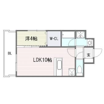 ルッシェ博多駅201号室-間取り