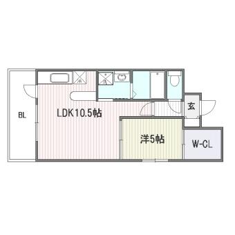 ラフィーネ赤坂301号室-間取り