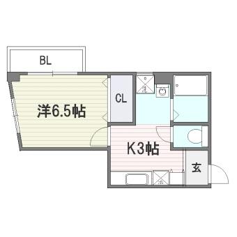 ジェンティーレ美野島I305号室-間取り