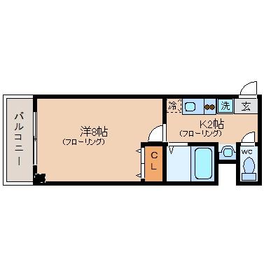 リバティ高砂六番館208号室-間取り