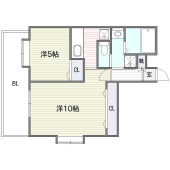 S-FORT筑紫通り410号室-間取り