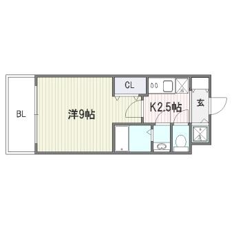 レシェンテヴィラ東福岡318号室-間取り