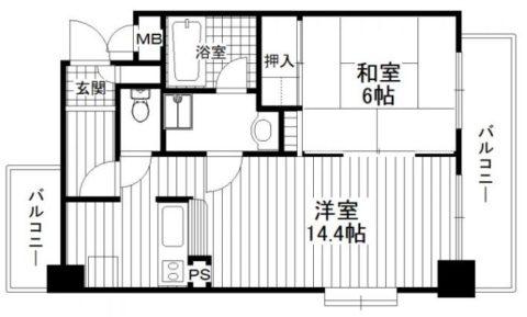 アヴェニール赤坂403号室-間取り