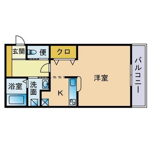 リバル吉塚II203号室-間取り