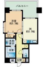 高口箔屋ビル - 所在階9階の間取り図 1757