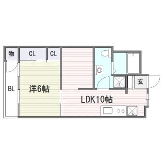 昌栄マンション307号室-間取り