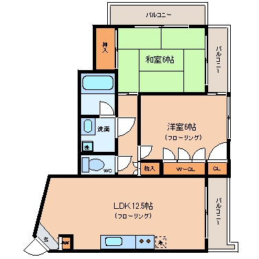第II成田ビル411号室-間取り