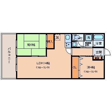第3大西ビル509号室-間取り