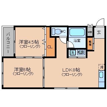 日商博多ビル601号室-間取り
