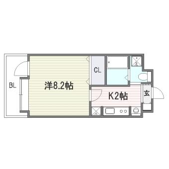 ハイツA&S302号室-間取り