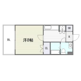 レステル美野島306号室-間取り