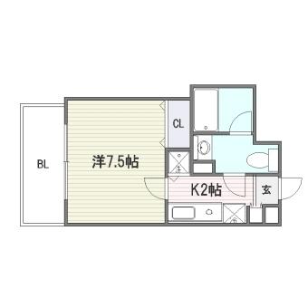 宝州博多第一ビル801号室-間取り
