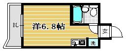 ロマネスクL六本松1003号室-間取り