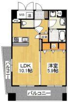モン・ルポ博多駅東 - 所在階 の間取り図