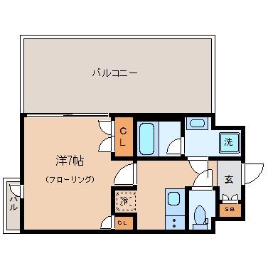 エンクレスト天神IV1103号室-間取り