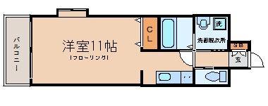グランフォーレ平尾ステーションプラザI701号室-間取り