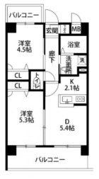 ベントデラフォレスタ - 所在階 の間取り図