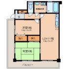 ロワールマンション西公園III - 所在階 の間取り図