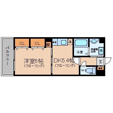 グロースメゾン博多山王603号室-間取り