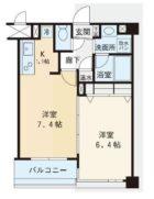 赤坂シャトー松風 - 所在階 の間取り図