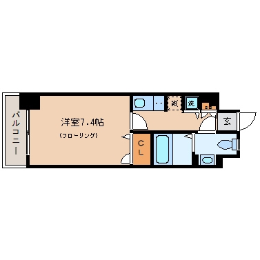 エンクレスト天神III210号室-間取り