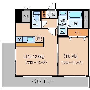 コートK7201号室-間取り
