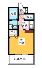 エンクレスト博多 - 所在階 の間取り図