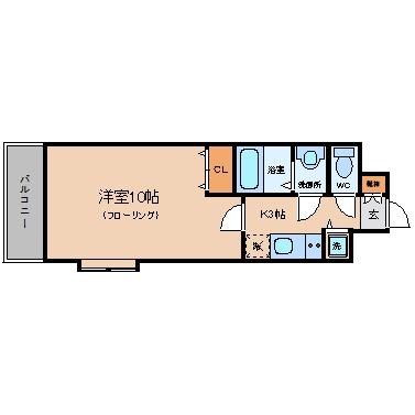 アーバントップ清川210号室-間取り