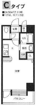 atlas - 所在階 の間取り図