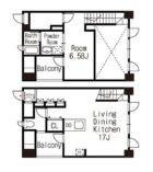 大手門館 - 所在階 の間取り図