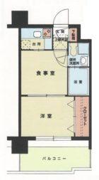 エステートモア大手門 - 所在階4階の間取り図 2489