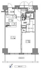 天神プレイスEAST棟 - 所在階 の間取り図