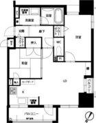 アメックス赤坂門タワー - 所在階7階の間取り図 2498