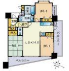 アクロス天神Vタワー - 所在階 の間取り図