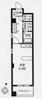 コン・パティオ - 所在階 の間取り図