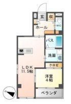 アーバンブルー藤 - 所在階***階の間取り図 2553