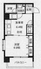 高口箔屋ビル - 所在階 の間取り図