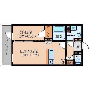 will Do 中洲1307号室-間取り