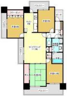 サーパス平尾駅前 - 所在階 の間取り図