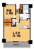 ダイアパレスプライムコート薬院 - 所在階 の間取り図