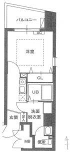 アビターレ春吉 - 所在階 の間取り図